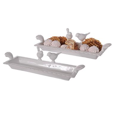 Тарелка-конфетница керамическая Птички