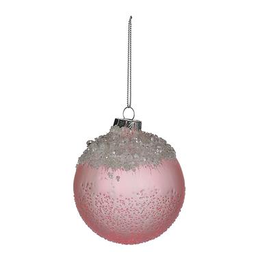 Елочный Стеклянный Шар Розовый Лед (12 шт.)