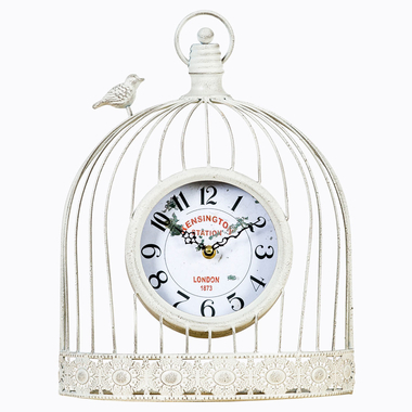 Часы «Волшебный сад», белый антик