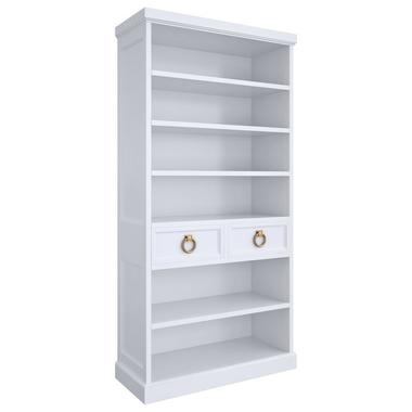 Книжный шкаф E137H-W-G