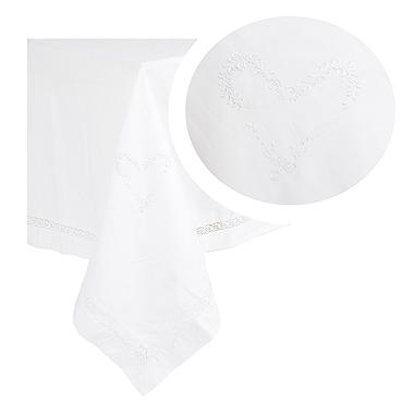 Скатерть белый лен с вышивкой 140х180 2536-119F(140x180)