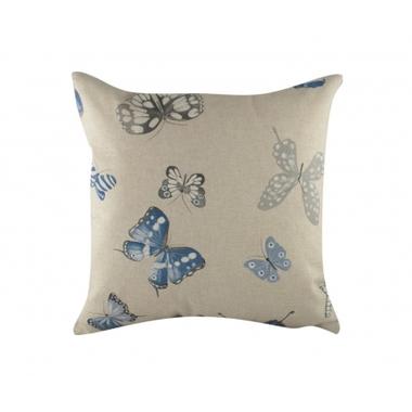 Подушка с принтом Blue Butterflies