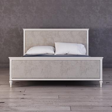 Кровать Riverdi с мягким изголовьем, с изножьем