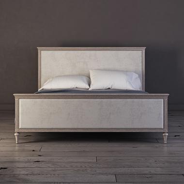 Кровать с мягким изголовьем 180*200 Riverdi, светлый дуб