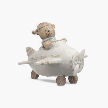 Мишка Новогодний на Вертолете (Полистоун)