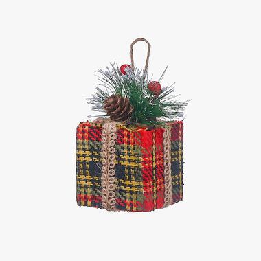 Новогодняя Елочная Подвеска-Кубик Большая