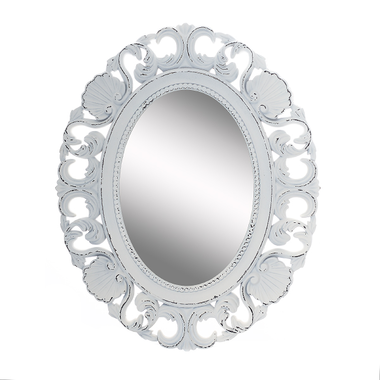 Зеркало в Деревянной Белой Раме