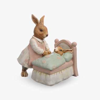 Кролик-Мама Ухаживает за Малышом (Полистоун)