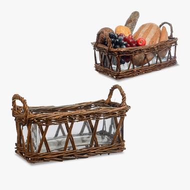 Багетница/Фруктовница Плетеная (с стеклянной чашей)