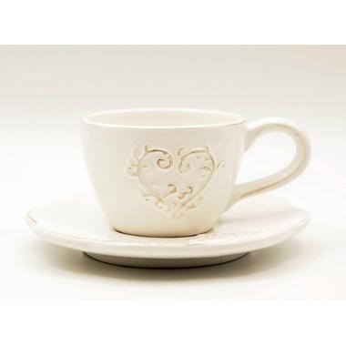 Чашка с блюдцем 12х8,5х6/15х15х2 MC08-0046