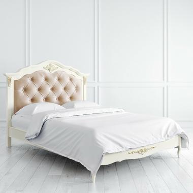 Кровать с мягким изголовьем 140*200 Romantic Gold