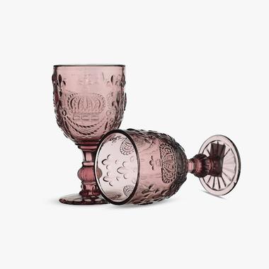 Бокал для Вина Розовый Королевский 300 ml (набор 4шт)
