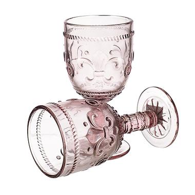 Бокал для вина Дикая Розовая Лилия 300 ml (набор 6 штук)