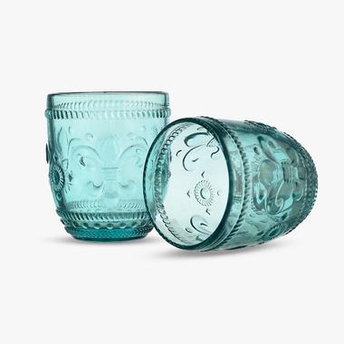 Стакан для Воды Дикая Бирюзовая Лилия 300 ml (набор 6шт)