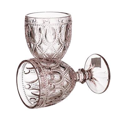 Бокал для вина Арабский розовый орнамент (набор 4шт)