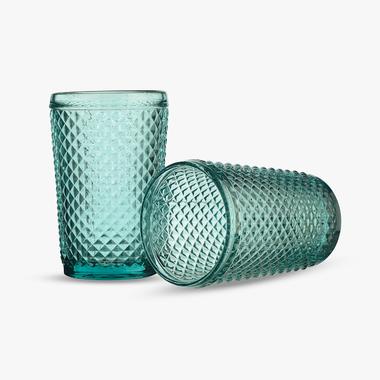 Стакан для Воды Бирюзовый Ромбик 300 ml (набор 6шт)
