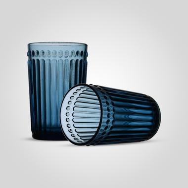 Стакан Стеклянный для Воды Синий Большой (от 6 штук)