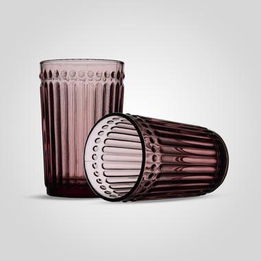 Стакан Стеклянный для Воды Розовый Большой (от 6 штук)