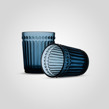 Стакан Стеклянный для Воды Синий Малый (от 6 штук)