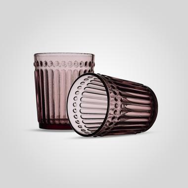 Стакан Стеклянный для Воды Розовый Малый (от 6 штук)