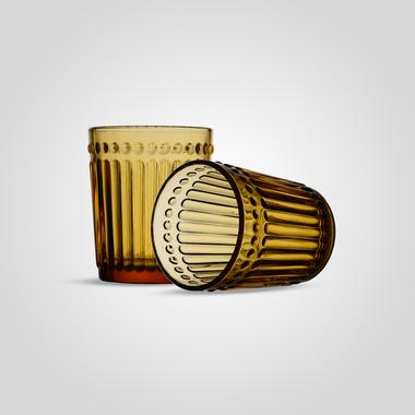 Стакан Стеклянный для Воды Желтый Малый (от 6 штук)