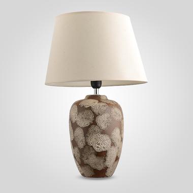 Настольная Керамическая Овальная Лампа