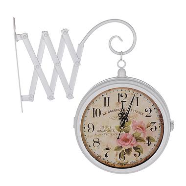 Часы настенные белые Гармошка