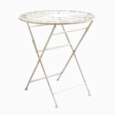 Складной столик для завтрака «Тюильри» (белый антик)