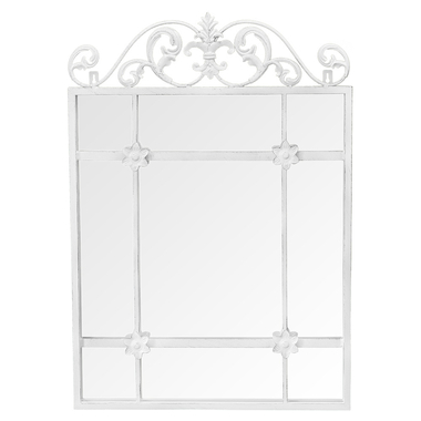 Настенное зеркало «Равель» (белый антик)