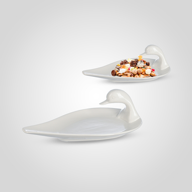 Блюдо-Лебедь Керамическое Малое
