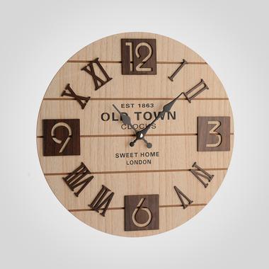 Часы Настенные с Коричневыми Цифрами