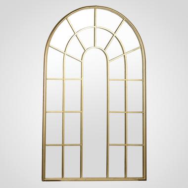 Зеркало-Окно Золотистое 120x74 см. (Металл)