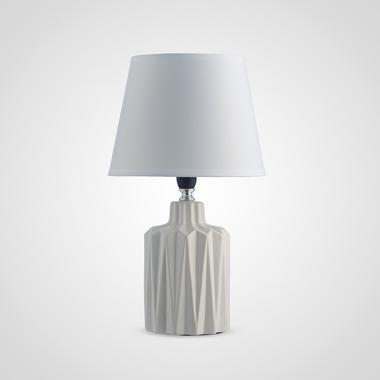 Керамическая Настольная Белая Лампа