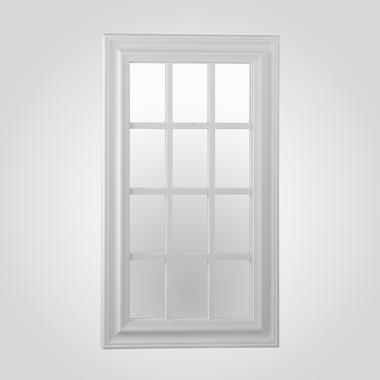 Белое Прямоугольное Зеркало-Окно (Полимер)