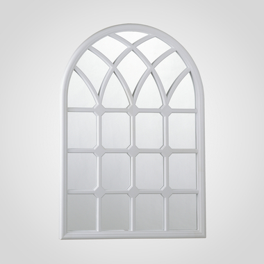 Белое Широкое Зеркало-Окно 72х50 см (Полимер)
