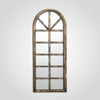 Коричневое Зеркало-Окно с Патиной (Полимер)