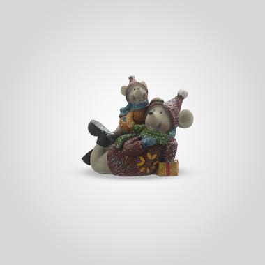 Мышка и Мышонок с Подарками (Полистоун)