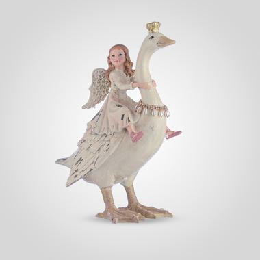 Девочка-Ангел на Сказочном Лебеде (Полистоун)