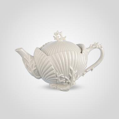 Чайник Заварочный Фарфоровый Белый