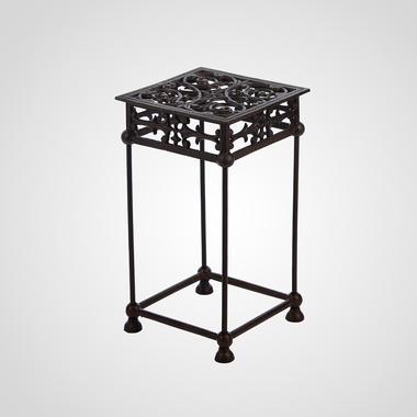 Чугунный Ажурный Квадратный Стол/Подставка под Цветы 44x25x25 см