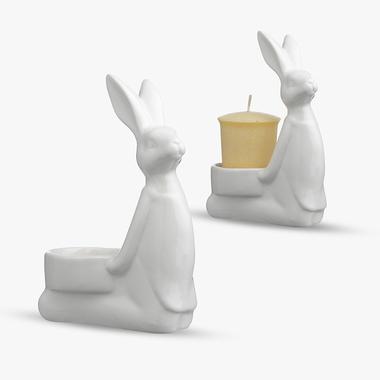 Подсвечник Любопытный Кролик (Керамика)