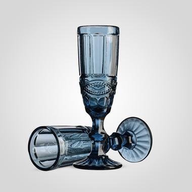 Бокал для Шампанского Стеклянный Синий