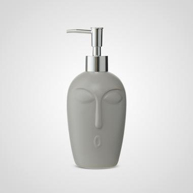 Серый Керамический Диспенсер-Лицо 20 см.