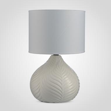 Интерьерная Керамическая Настольная Белая Лампа с Объемными Листьями