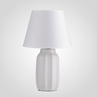 Керамическая Настольная Белая Лампа 40 см.