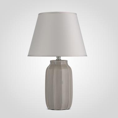 Керамическая Настольная Светло-Серая Лампа 40 см.