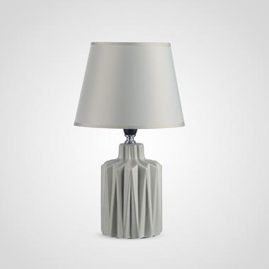 Керамическая Настольная Серая Лампа