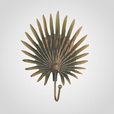 Металлический Крючок-Лист Зеленый с Золотистым