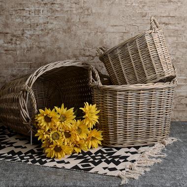 Набор из 3-х Плетеных Багетниц или Корзин для Белья