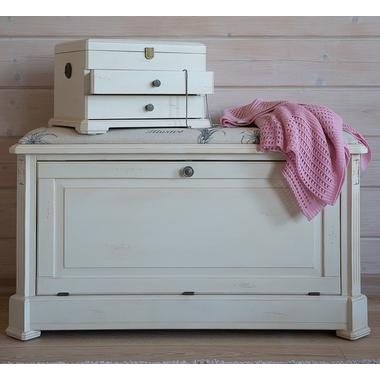 Ящик — сундук — пуфик с мягким сиденьем белый с гобеленовой тканью ST9393 А(белый)